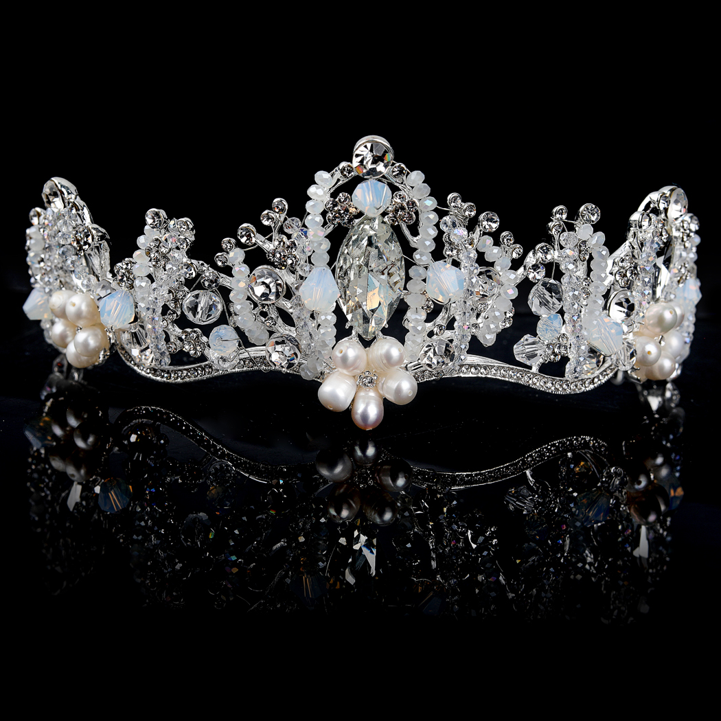 Wedding Crown and Tiara Handmade Baroque Headband for Women and Girls