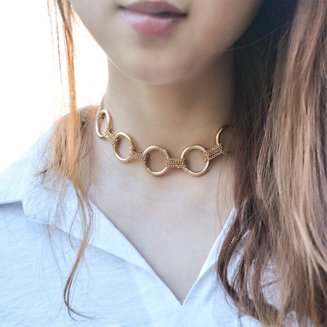 Fashion Choker Annulus Necklace