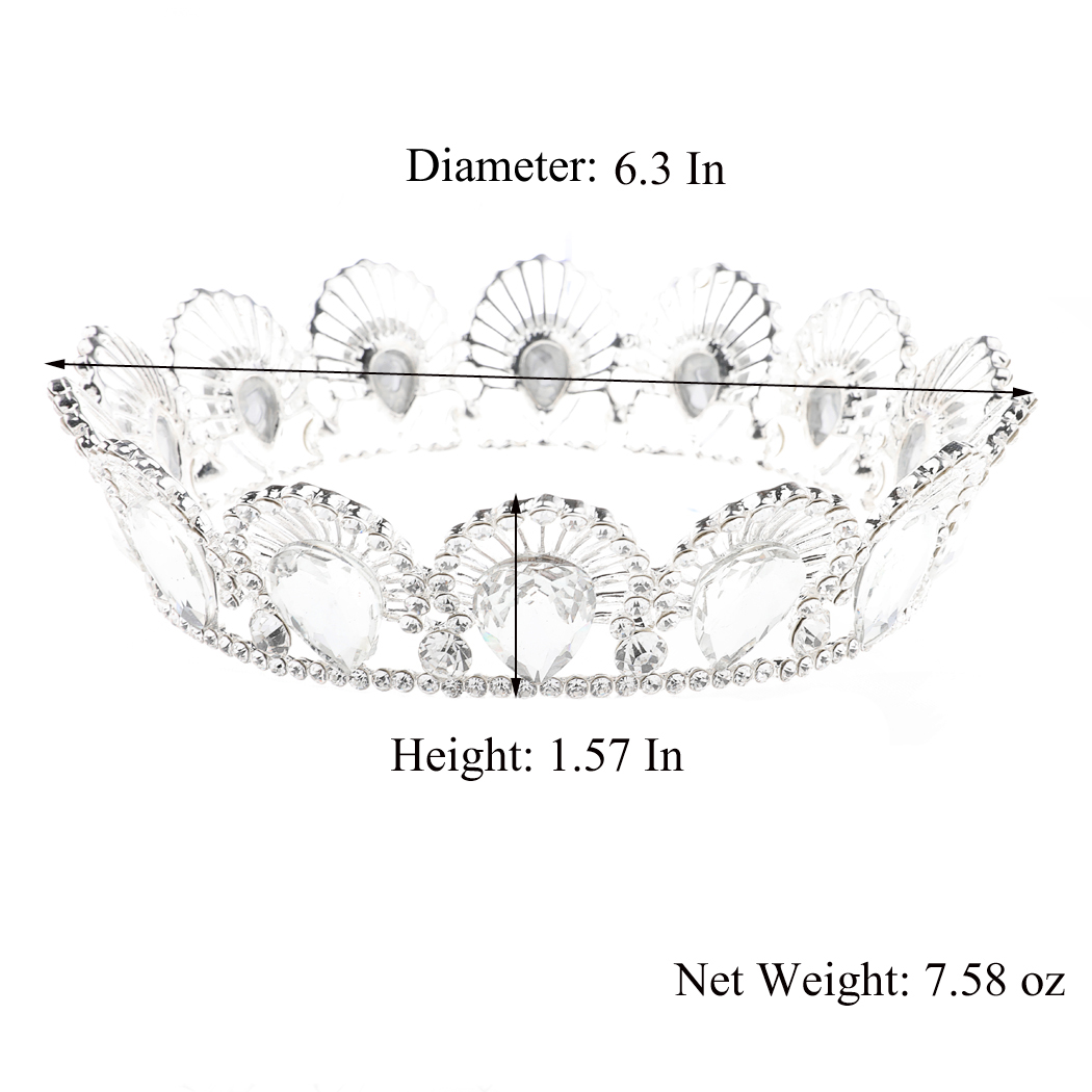 Wedding Crown and Tiara Baroque Queen Bridal Crystal Headband for Brides Women and Girls